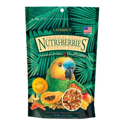 LAFEBER NUTRIBERRIES TROPICAL FRUIT PARROT 10oz
