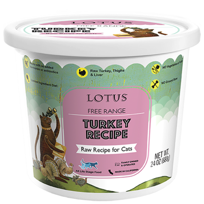 LOTUS CAT RAW TURKEY 24oz
