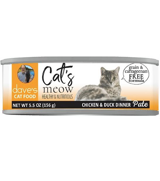 DAVES CAT MEOW CHX/DUCK 5.5oz
