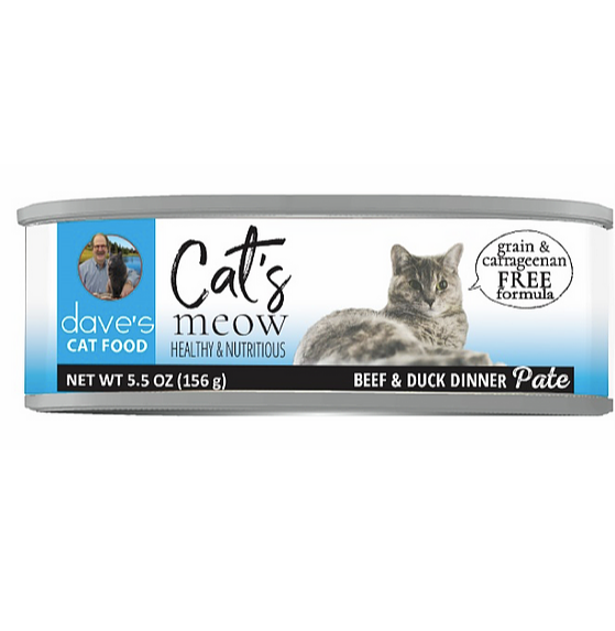 DAVES CAT MEOW BEEF/DUCK 5.5oz