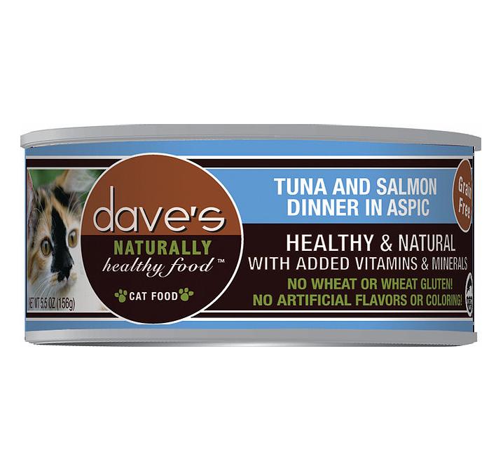 DAVES CAT NAT TUNA/SAL 5.5oz