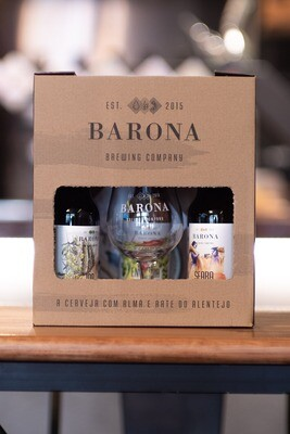 Pack Personalizado Barona (5x33cl + Copo)