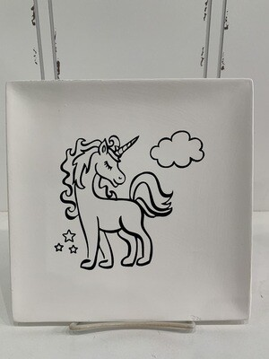 Unicorn Coloring Book Plate