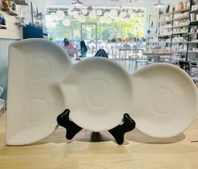"""BOO"" plate"