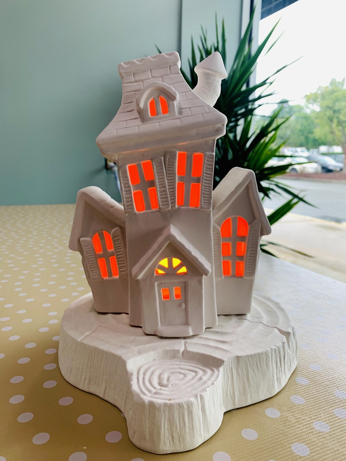 Light up Haunted House with light kit (Base sold separately)