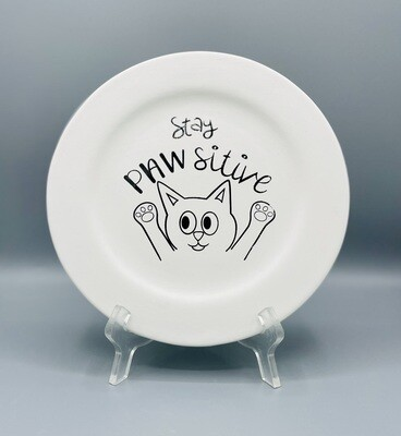 Stay PAWsitive Plate