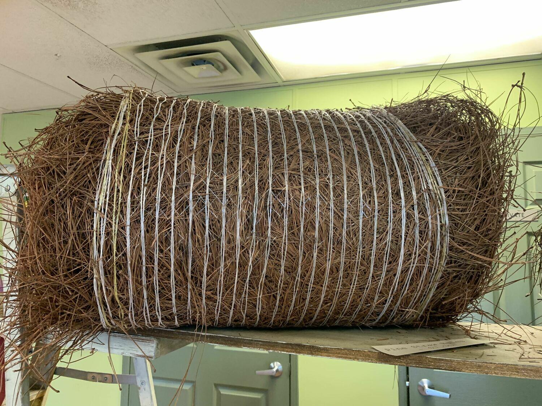 Colored Pine Straw Rolls