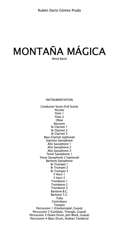 Montaña Mágica (Score and Parts)