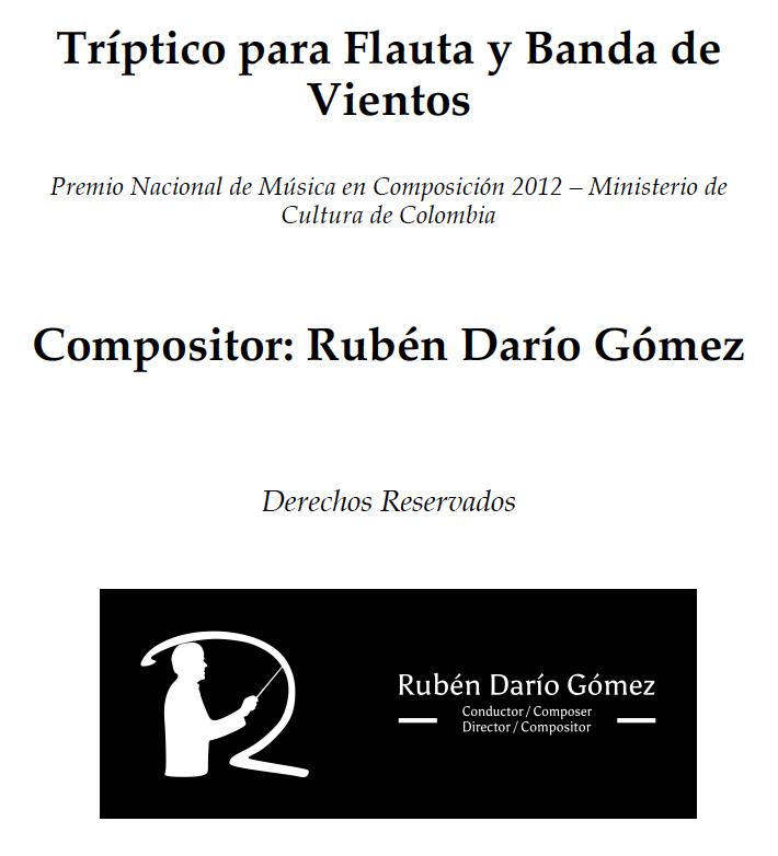 Tríptico para Flauta y Banda