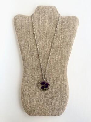 Deep Purple Flower Necklace