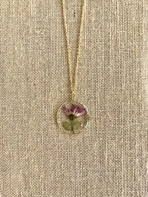 Mauve Flower Necklace
