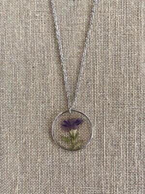 Lavender Purple Flower Necklace