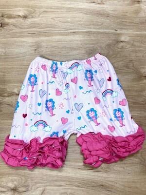 Mermaid and Friends Ruffle Shorts