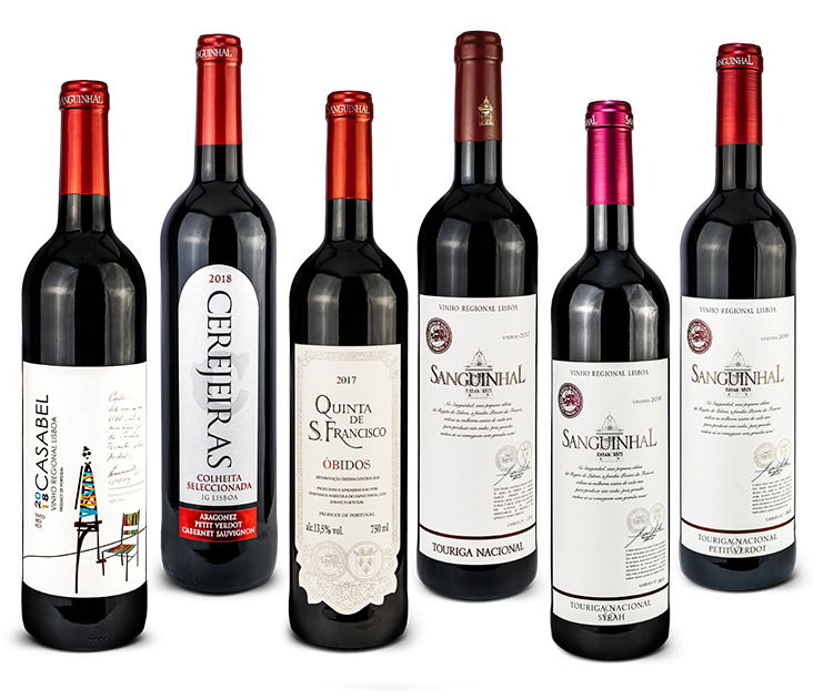 RED WINE SELECTION FROM C.A. SANGUINHAL - FREE DELIEVERY