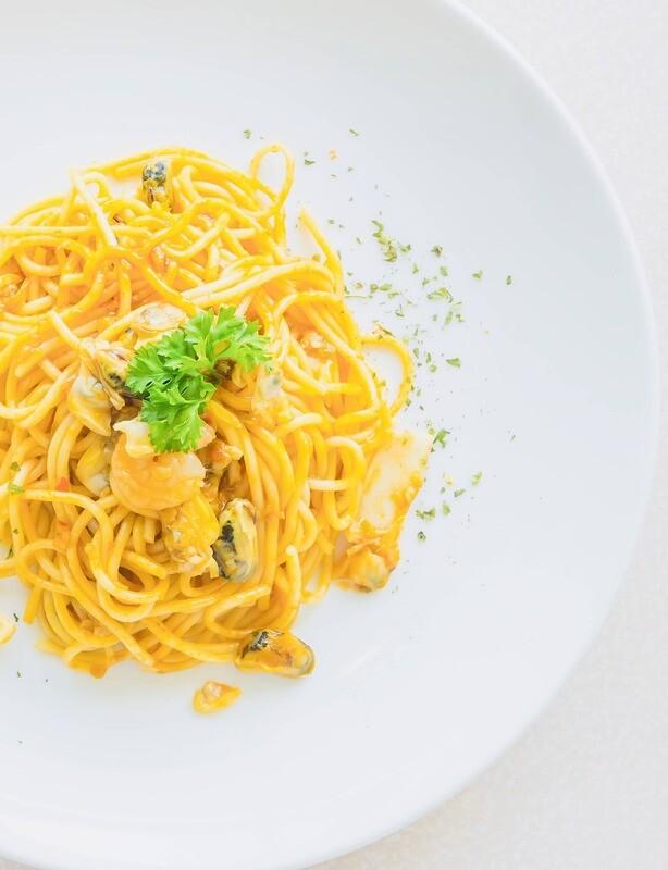 Spaghetti mit Filetspitzen Mittagstisch