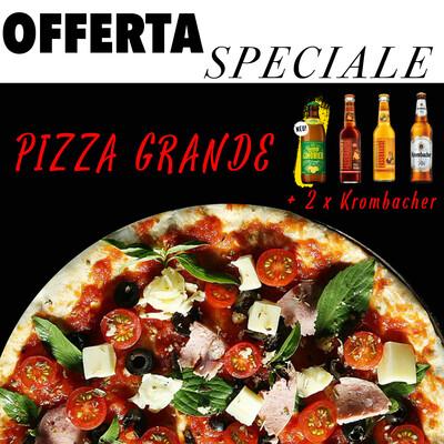 Pizza Grande + 2 x Krombacher 0,33 L
