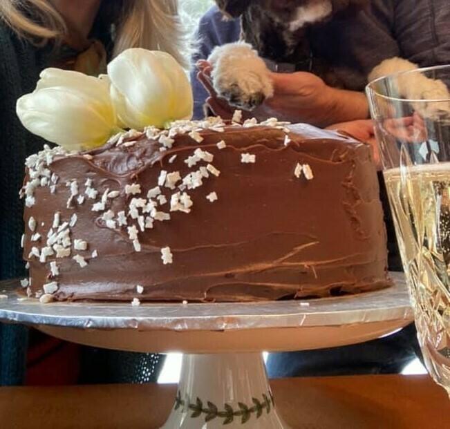 Triple Chocolate Fudge Cake whole cake