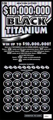 $10,000,000 BLACK TITANIUM