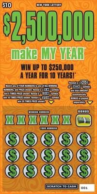 $2,500,000 MAKE MY YEAR