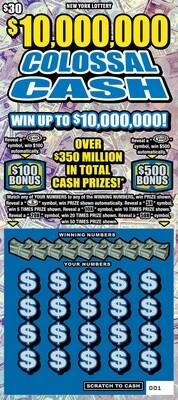 $10,000.000 COLOSSAL CASH