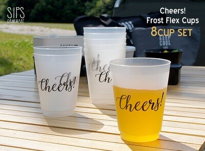 """""""Cheers"""" reusable plastic cup"""