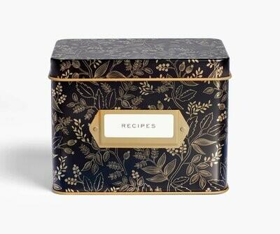 Black & Gold Recipe Box