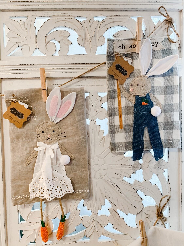 Bunny Hand Towels