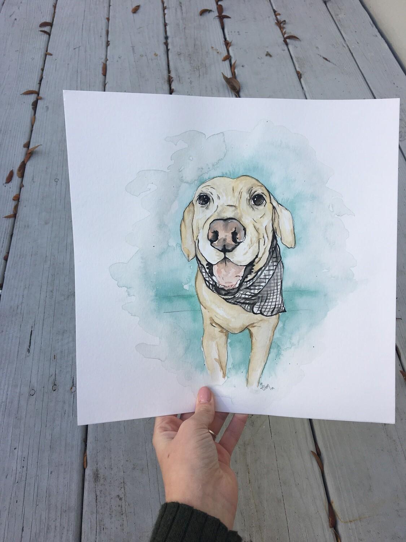 Water color pet portrait