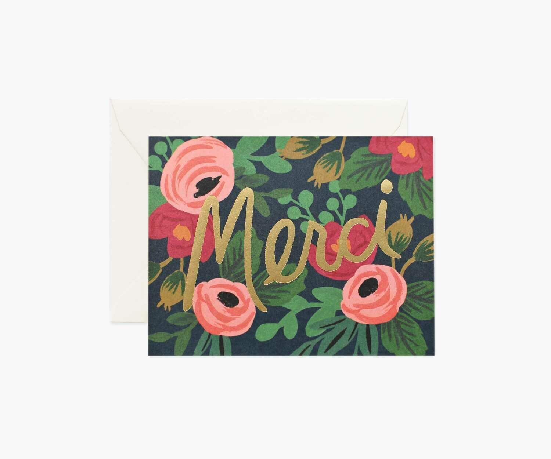"""Merci"" Floral"