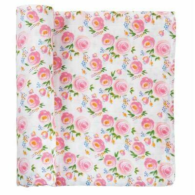 Flower Muslin Blanket