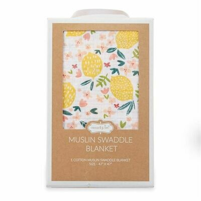 Lemon Muslin Blanket