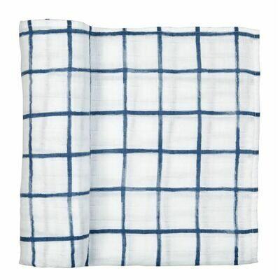 Windowpane Muslin Blanket