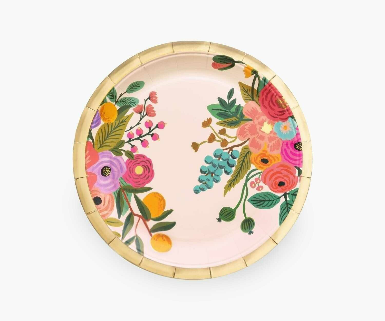 Garden Party Paper Plates