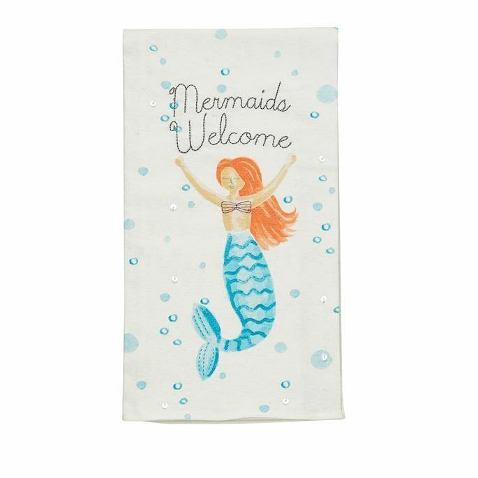 """Mermaids Welcome"" Hand Towel"
