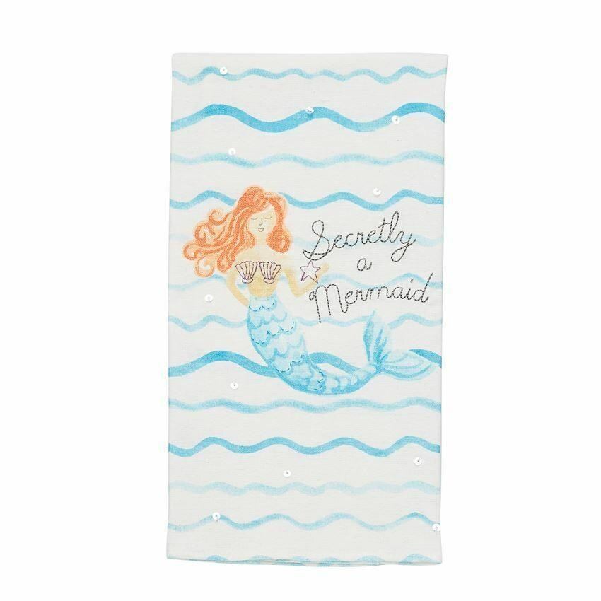 Secretly a Mermaid Hand Towel