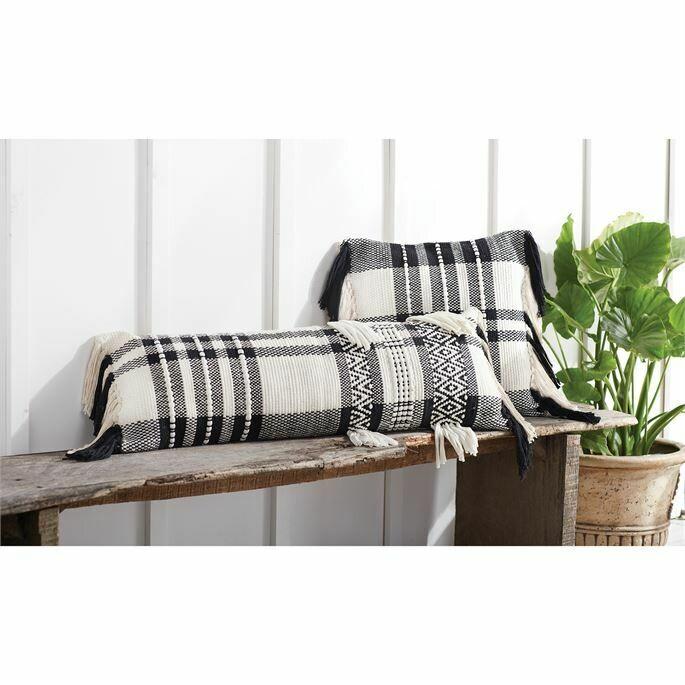 Square Black Check Pillow