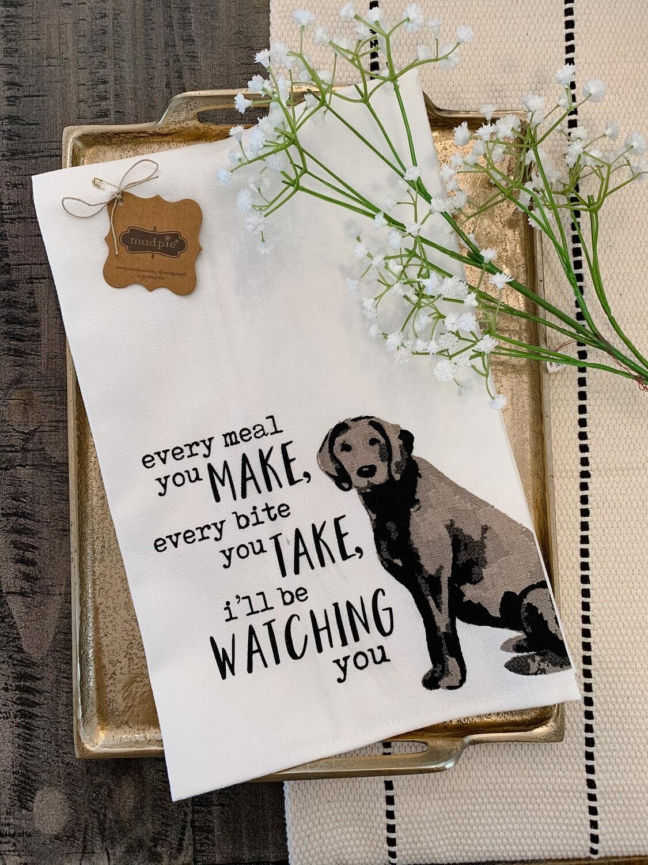 """Every Move You Make"" Dog Hand Towel"