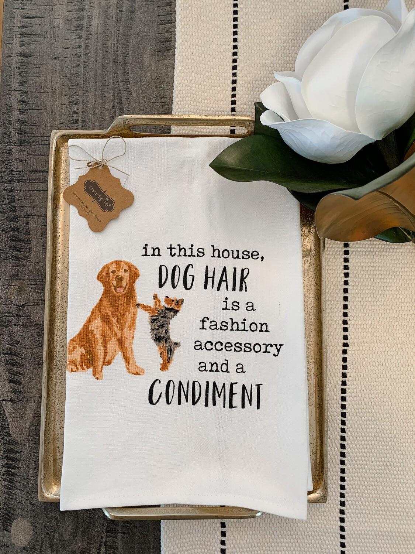 """""""Dog Hair"""" Dish Towel"""