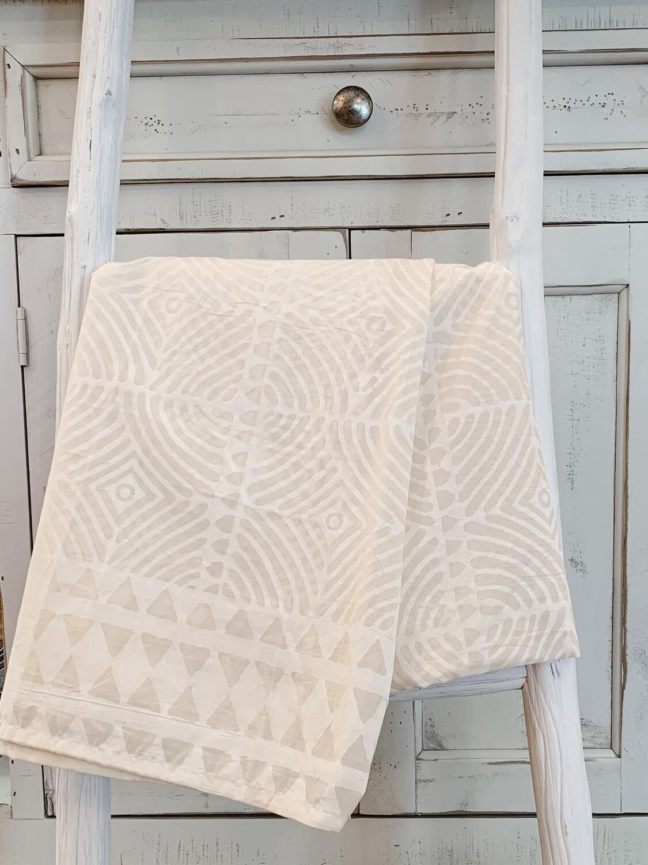 Batik Table Cloth - White