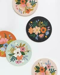 Floral Paper Coasters