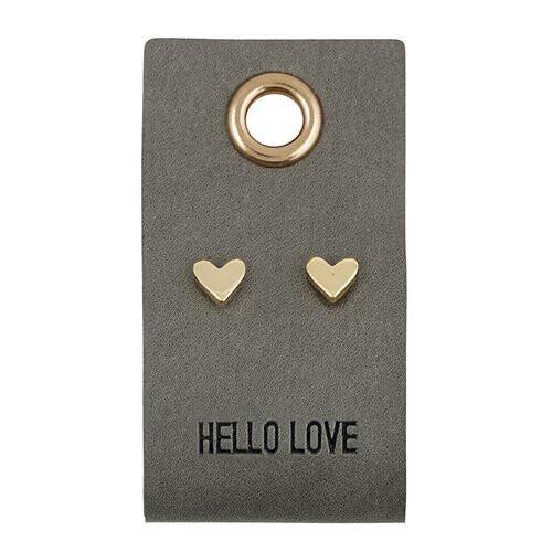 """""""Hello Love"""" Heart Earrings"""