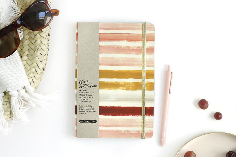 Sunset Stripe Sketchbook