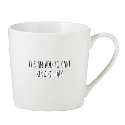 """""""add to cart"""" mug"""