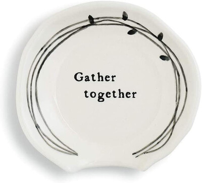 """""""Gather Together"""" Spoon Rest"""