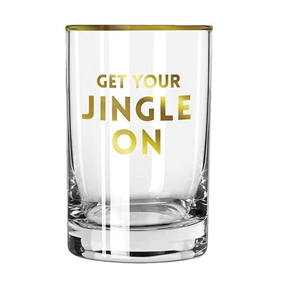 """Get your Jingle On"" Glass"