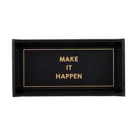 """""""Make it Happen"""" Leather Tray"""