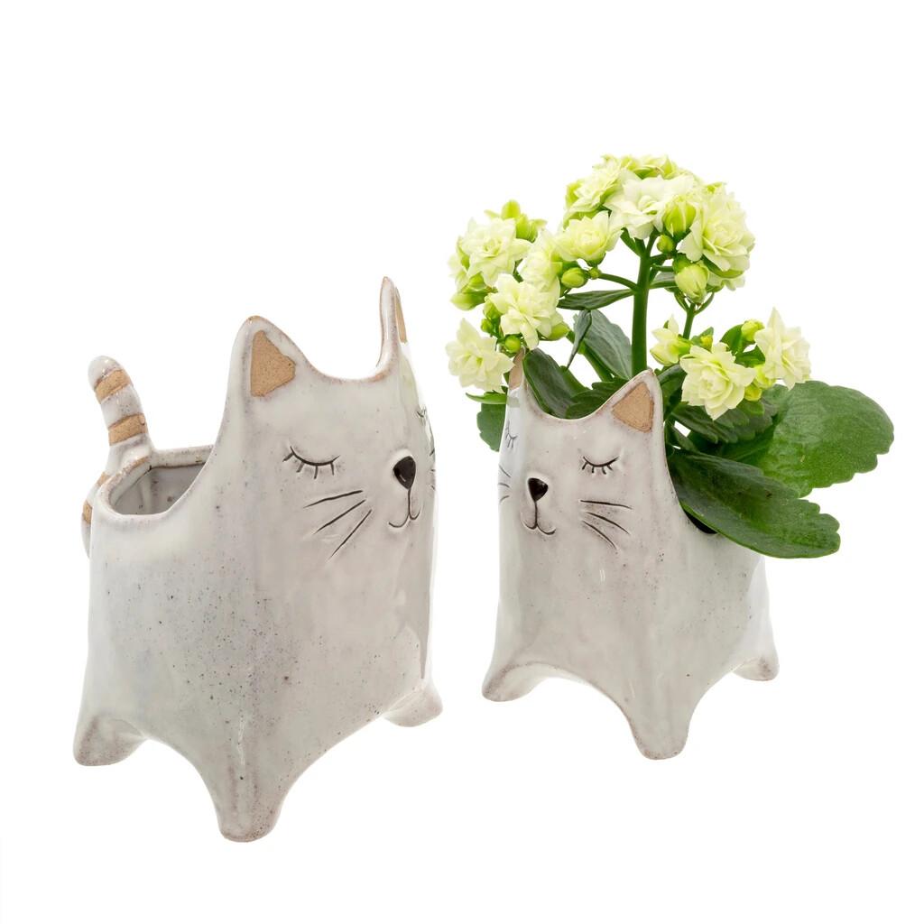 """here kitty"" pot"