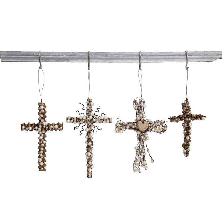Wire cross with Beads