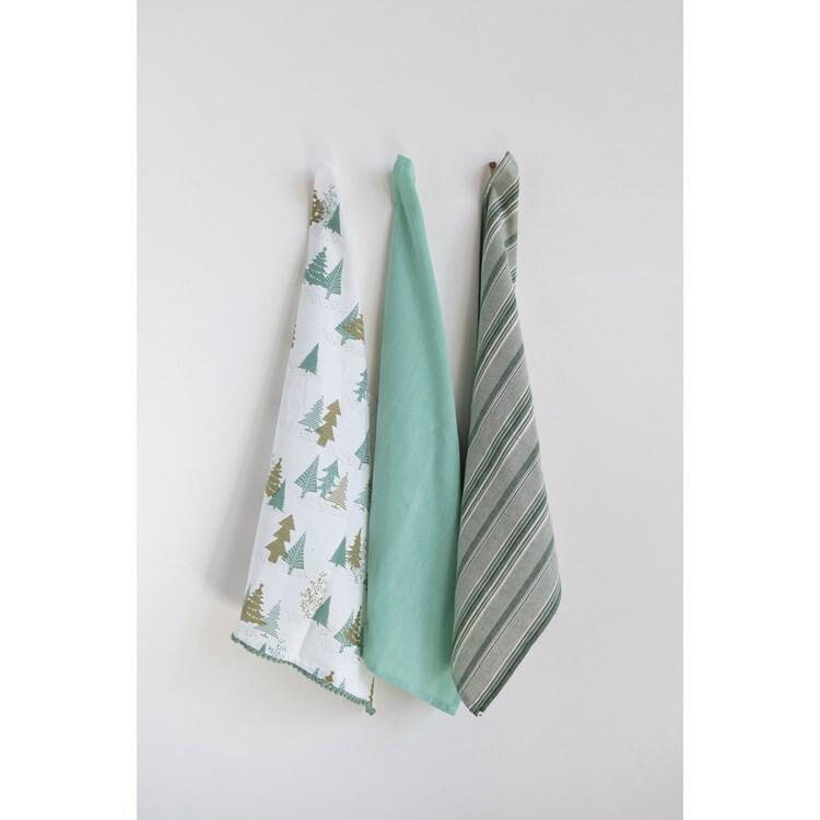 Christmas tea towel set of 3
