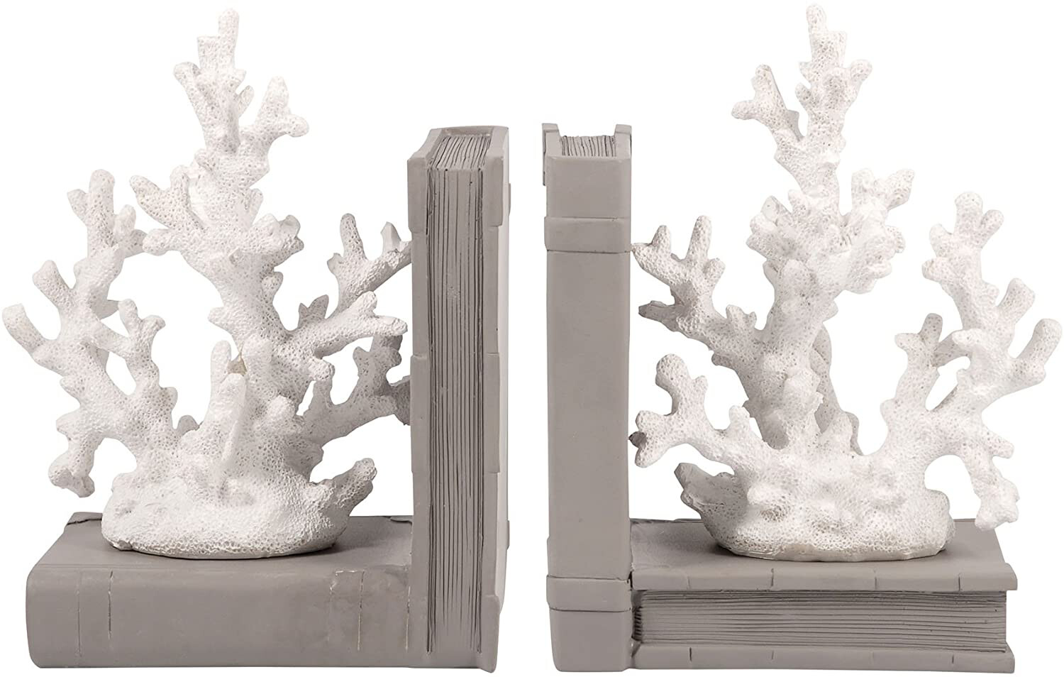 Coral Book Ends